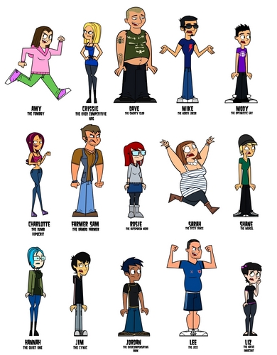 Total Drama Island Hintergrund called Total Drama College cast