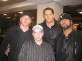 Wade Barrett,Heath Slater,Justin Gabriel w/Fan
