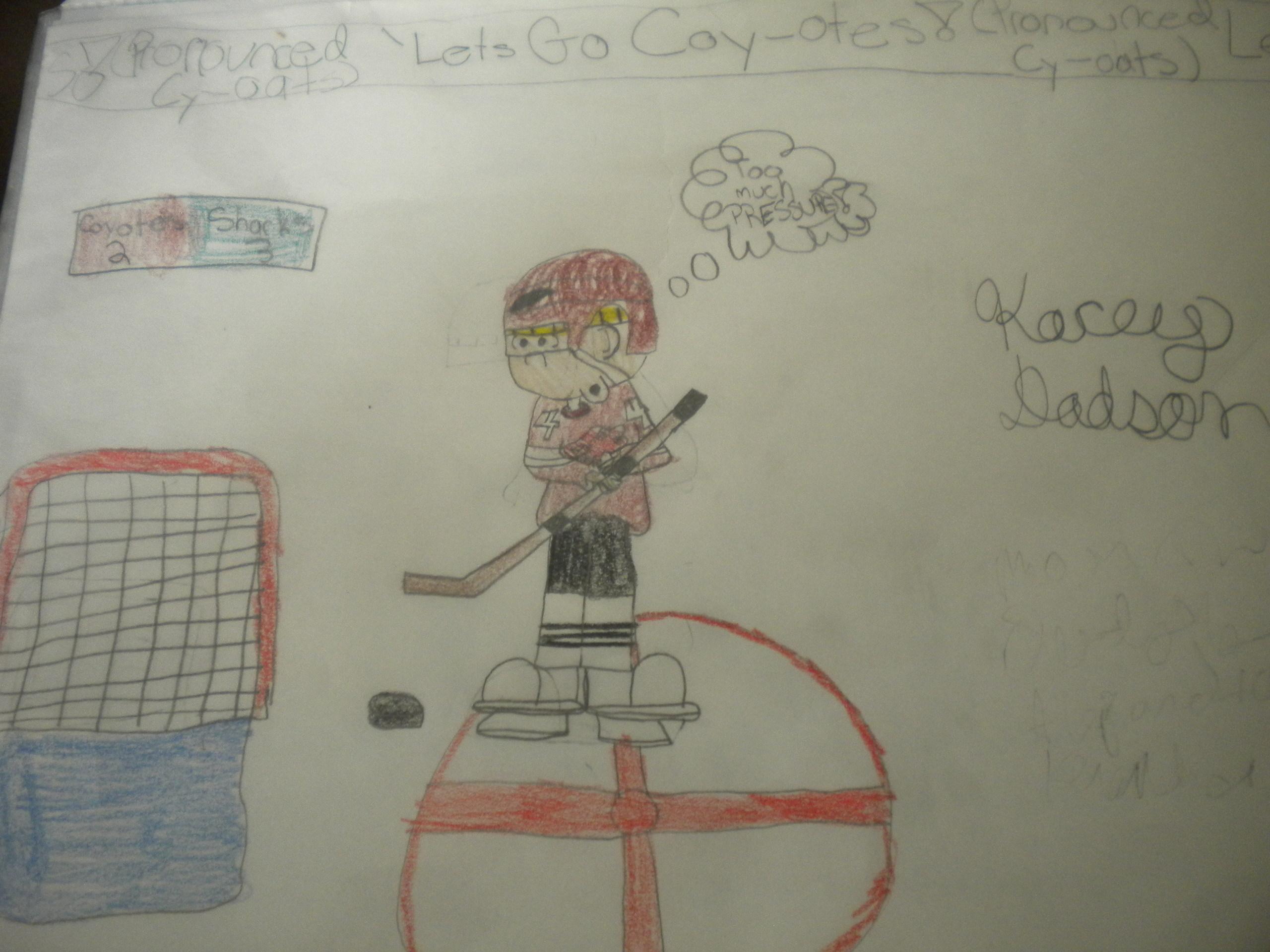 Wally the Hockey Player