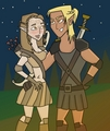 Zev and the Warden TDI-ified - total-drama-island fan art