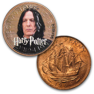 close up of Severus coin