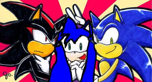 crystal,shadow and sonic X3