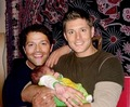misha's baby and daddy and jensen