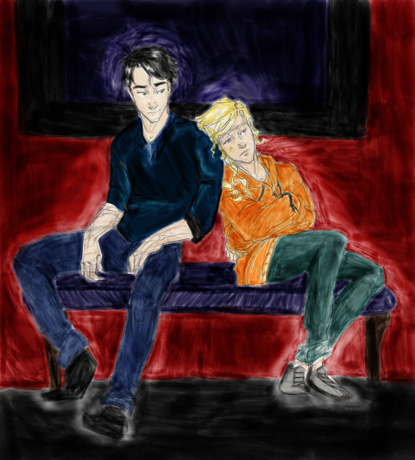 Percy and Annabeth http://www.fanpop.com/clubs/random/images/18960336/title/percy-annabeth-fanart