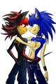 shadow + sonic =love - shadow-the-hedgehog photo