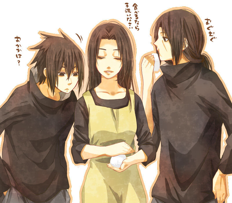 Sasuke, Itachi, Mikoto