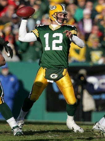 Green 만, 베이 Packers 바탕화면 containing a lineman, a tailback, and a 삿대를 젓는 사람, 손님이 entitled Aaron Rodgers