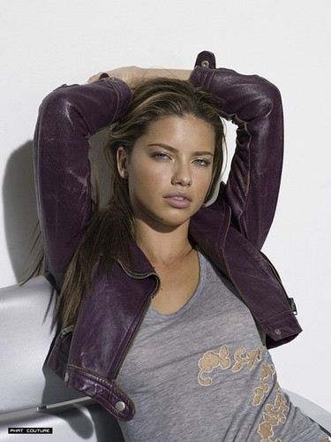 Adriana Lima wallpaper probably with a hood, an outerwear, and a leisure wear titled Adriana - A Italy 2006-2007