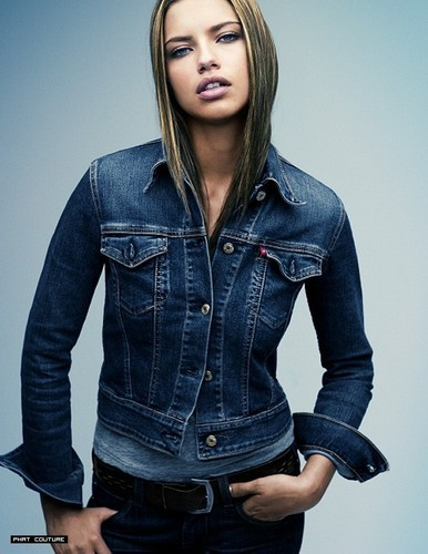 Adriana Lima wallpaper possibly with a jean and bellbottom trousers titled Adriana - A Italy 2006-2007