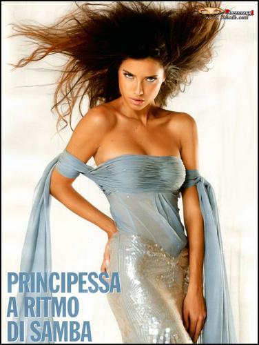 Adriana Lima wallpaper containing a cena dress and a toga, abito titled Adriana - Che 2005