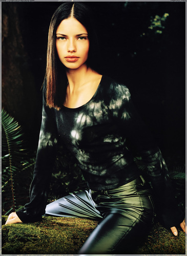 Adriana Lima karatasi la kupamba ukuta containing a well dressed person entitled Adriana - Guess 2000 Fall Journal