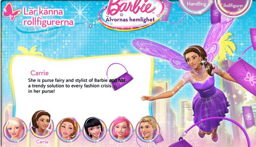 búp bê barbie A Fairy secret- Biography: Carrie