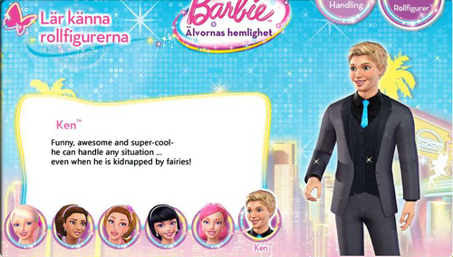 Barbie A Fairy secret- Biography: Ken