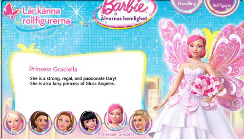 Barbie A Fairy secret: Biography: Princess Graciella