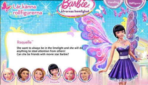Barbie A Fairy secret- Biography: Raquelle