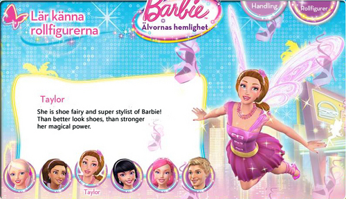 Barbie A Fairy secret- Biography: Taylor