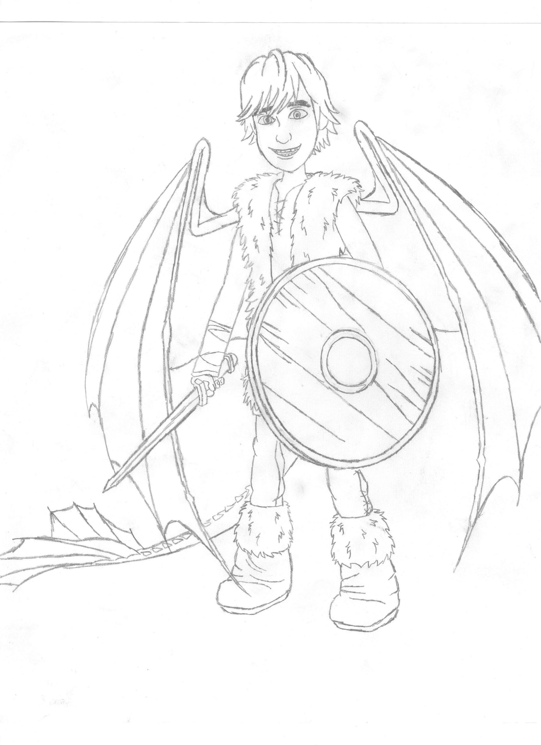 How to Train Your Dragon Blood of a Night Fury - rough draft Hiccup