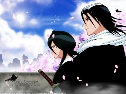 Byakuya and Rukia