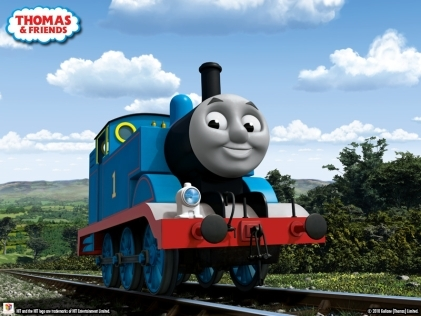 Thomas the Tank Engine kertas dinding titled CGI Thomas