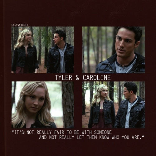 Caroline/Tyler (4wood) It's Not Realy Fair 2 B Wiv Sum1 & Not Realy Let Them No Who U R 100% Real x