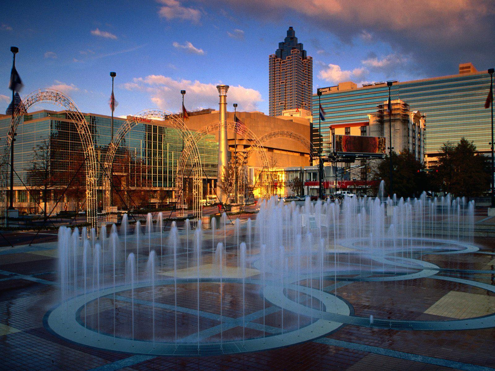Atlanta Images Centennial Park Fountain