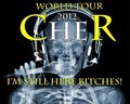 Cher 2012 Official concierto Tour Poster