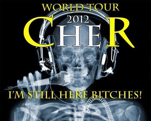 Cher দেওয়ালপত্র titled Cher 2012 Official সঙ্গীতানুষ্ঠান Tour Poster