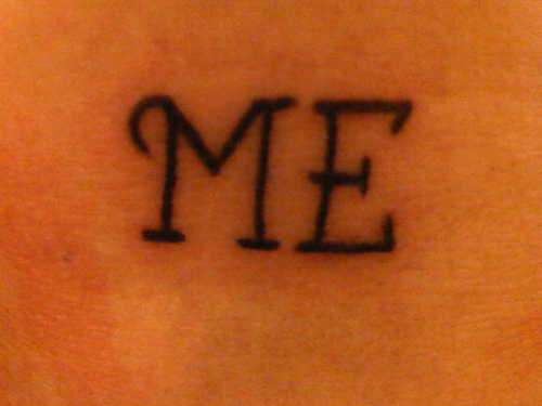 "Christina's ""ME"" tattoo"