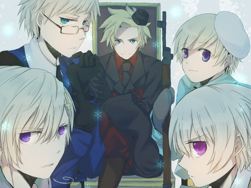 Hetalia wallpaper probably with anime titled Denmark, Finland, Iceland, Norway and Sweden