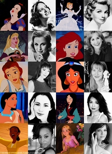 Disney Princess's and their Actress's