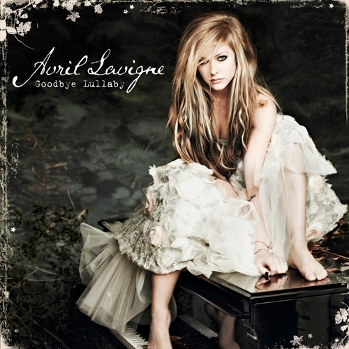 avril lavigne wallpaper possibly containing a koktil, koktail dress, a shirtwaist, and a box mantel called Goodbye Lullaby [FanMade Album Cover]