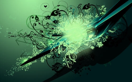 Green Vector wallpaper oleh Bartas1503
