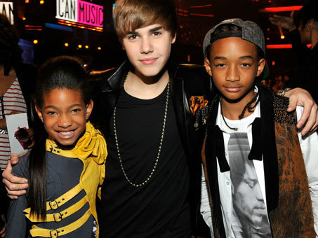 Justin, Willow & Jaden Smith