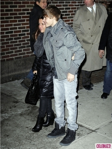 Justin With His Mom