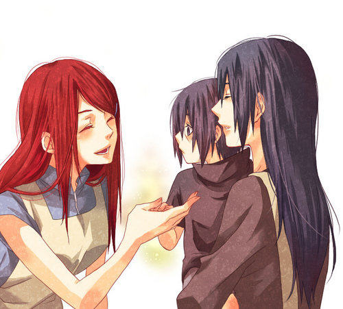 Kushina, Mikoto and Itachi