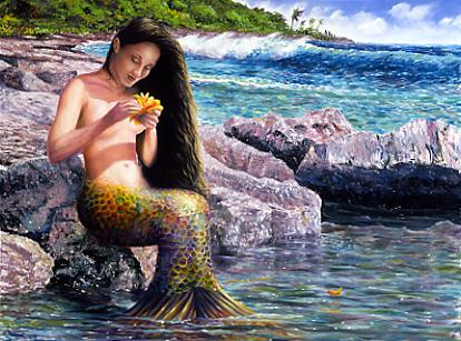 Những nàng tiên cá hình nền probably with a bather, thói quen entitled Mermaid