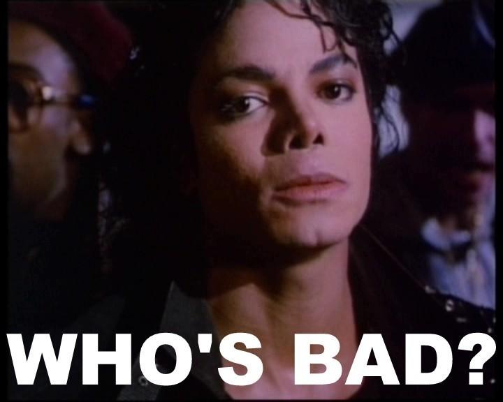 BRINCADEIRAS COM AS  FOTOS DE MIKE Michael-Jackson-WHOS-BAD-the-bad-era-19066957-720-576