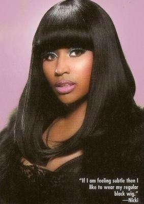 Nicki in Black Hair Magazine (February 2011)