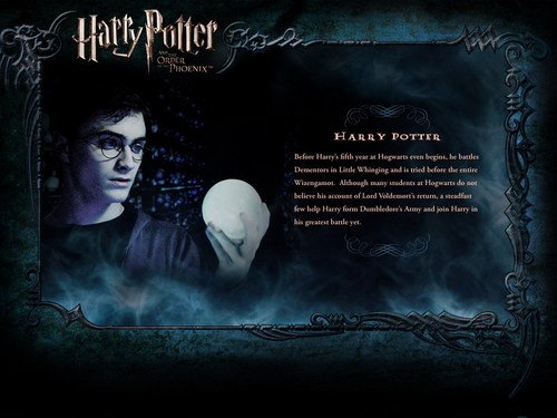 Harry Potter wallpaper probably containing anime titled OOTP Character Description - Harry