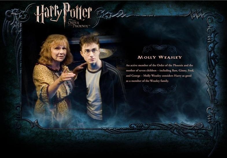 OOTP Character keterangan - Mrs. Weasley