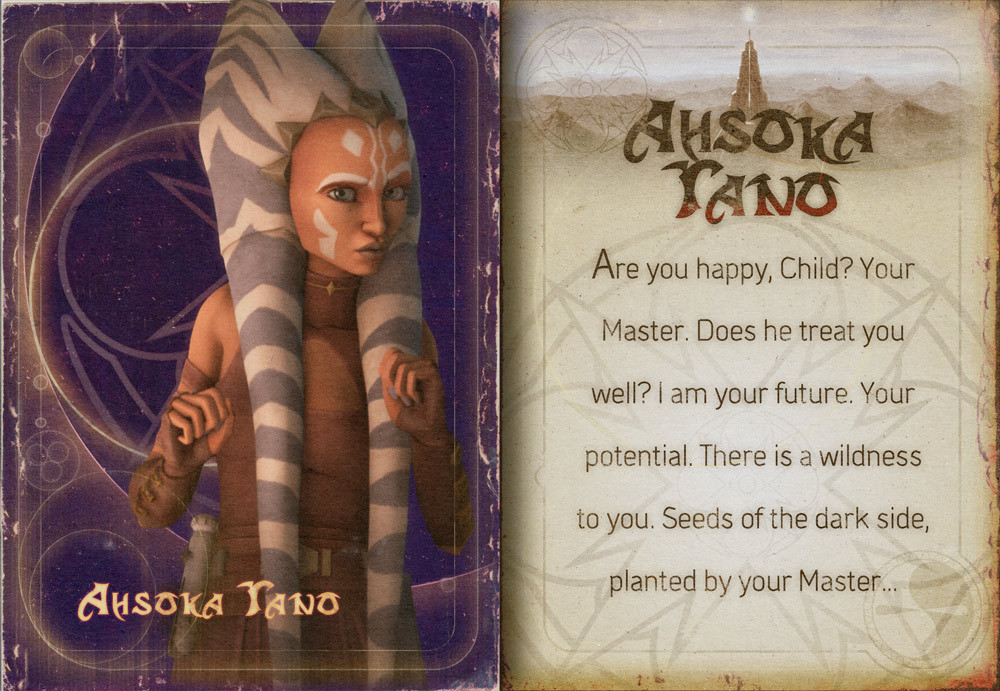 Star wars clone wars older ahsoka card