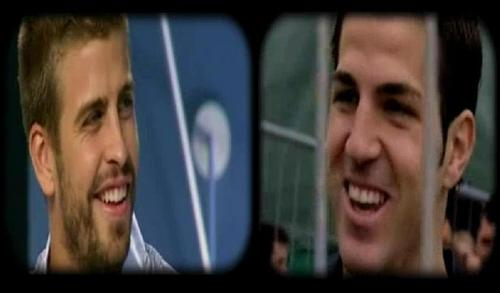 Piqué and Cesc