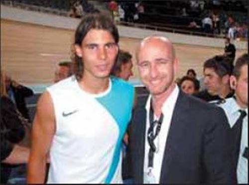 Rafael Nadal and his uncle Rafael Nadal