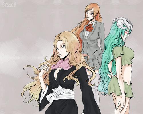 Rangiku-Orihime-Nelliel