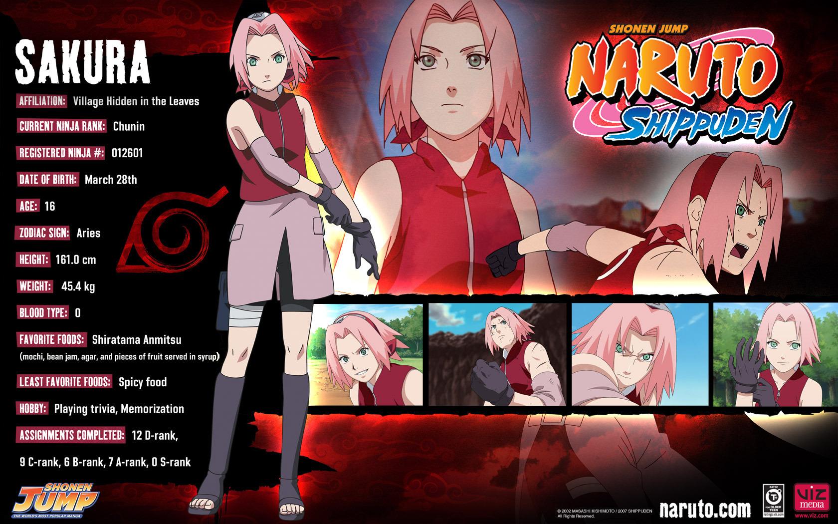 Haruno Sakura Sakura info
