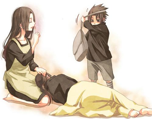 Sasuke, Mikoto and Itachi