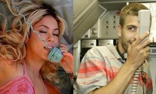 Shakira and Piqué sexy call