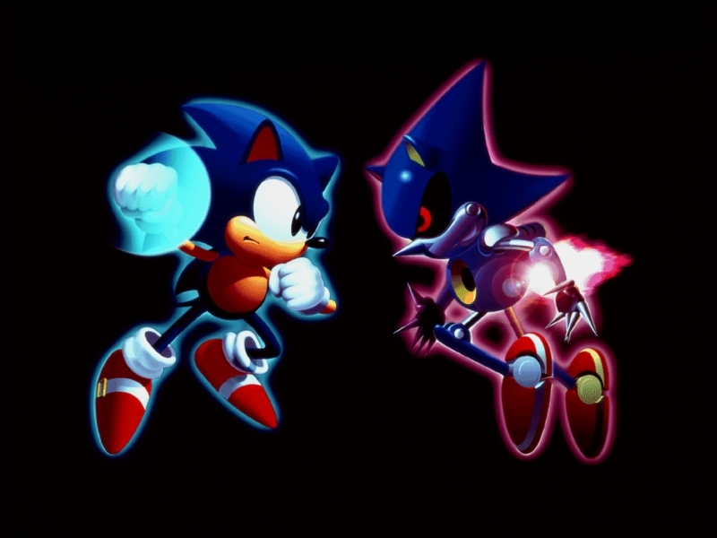Sonic CD Images Sonic Vs Metal Sonic HD Wallpaper And