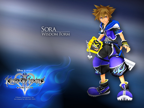 Kingdom Hearts 2 wallpaper titled Sora Wisdom Form