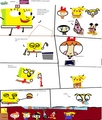 Spongebob, Pikachu, The Powerpuff girls, and Mickey Mouse in Patty School!